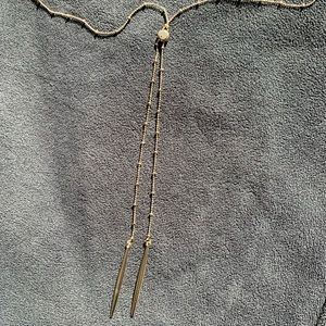 Gold-Tone Lariat Necklace